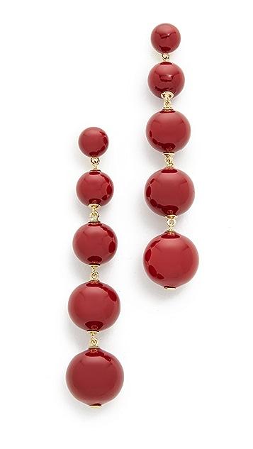 Kate Spade New York Precious Poppies Bauble Drop Earrings