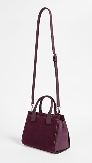 Kate Spade New York Dunne Lane Suede Small Lake Satchel