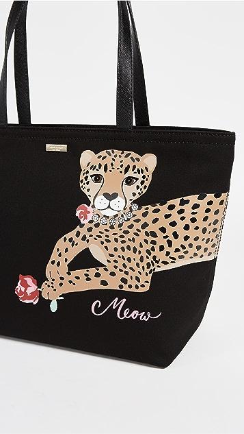 Kate Spade New York Lounging Cheetah Francis Tote