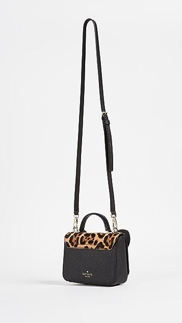Kate Spade New York Leopard Mini Janine Cross Body Bag