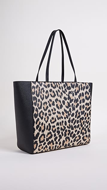 Kate Spade New York Leopard Hallie Tote