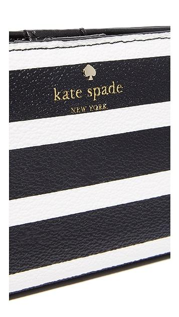 Kate Spade New York Hyde Lane Stripe Stacy Wallet