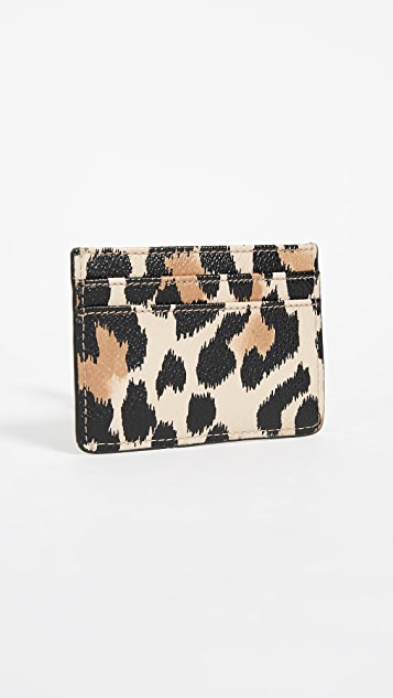 Kate Spade New York Hyde Lane Leopard Card Holder