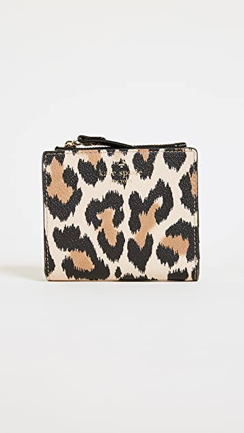 Kate Spade New York Hyde Lane Leopard Adalyn Wallet