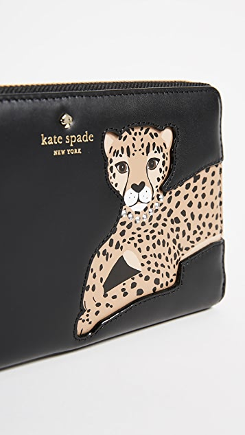 Kate Spade New York Leopard Lacey Wallet