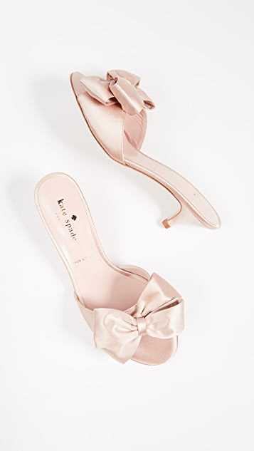 Kate Spade New York Plaza Kitten Heel Bow Sandals