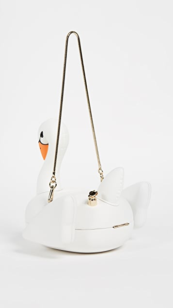 Kate Spade New York Checking In 3D Swan Pool Float Bag