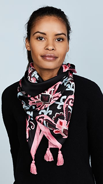 Kate Spade New York Tapestry Silk Square Scarf