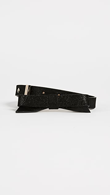 Kate Spade New York Classic Sparkly Bow Belt