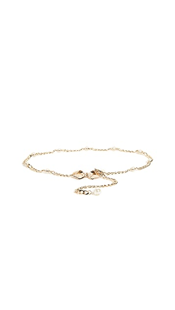 Kate Spade New York Bow & Imitation Pearl Chain Belt
