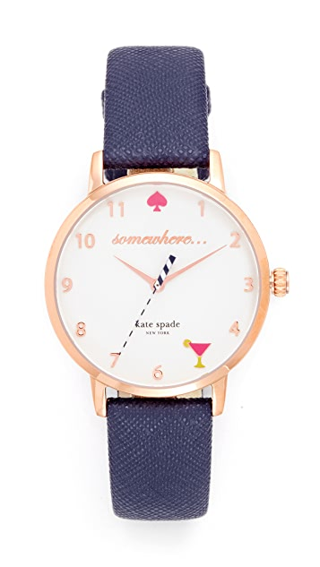 Kate Spade New York Metro Novelty 5 O'Clock Watch