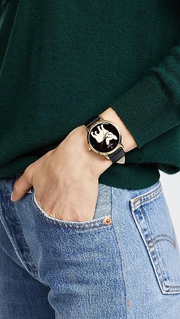 Kate Spade New York French Bulldog Grand Metro Watch, 38mm