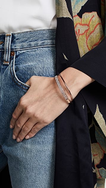 Kate Spade New York Heavy Metals Pave Row Bangle Bracelet