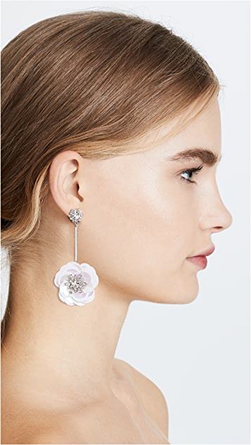 Kate Spade New York Snowy Lights Sequin Linear Statement Earrings