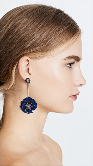 Kate Spade New York Snowy Nights Sequin Linear Statement Earrings