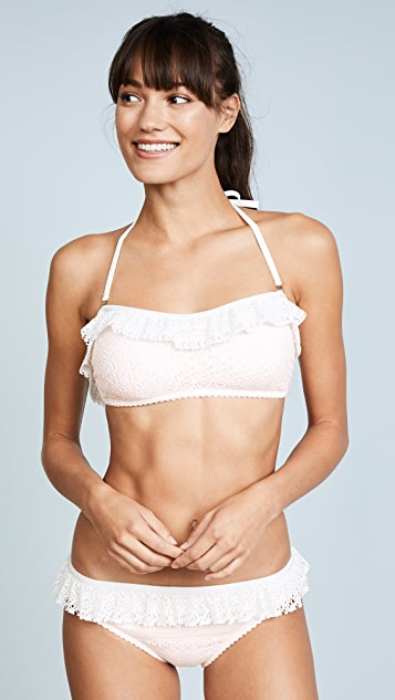 Kate Spade New York Point Loma Ruffle Bandeau Bikini Top