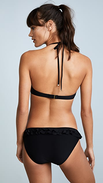 Kate Spade New York Isla Vista Ruffle Halter Bikini Top