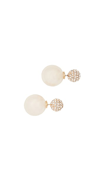 Kate Spade New York Pave Bauble reversible Earrings