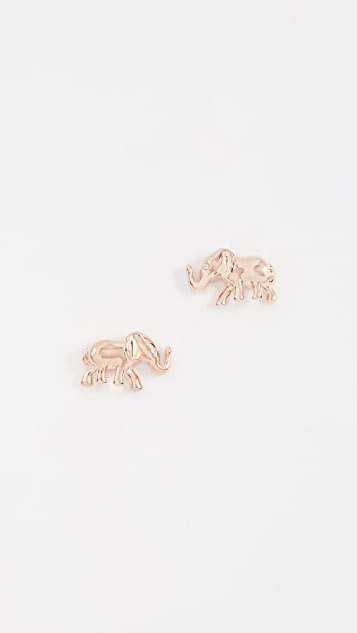 luxury love ethnic rose zirconia item color earings cute gold earrings anka women charm top elephant stud animal indian