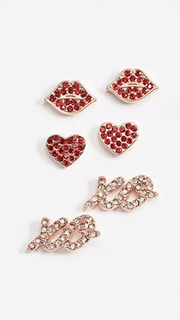 Kate Spade New York Love Studs Set