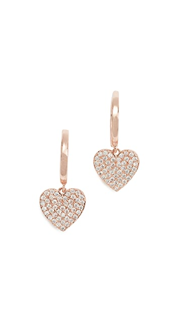 Kate Spade New York Pave Heart Drop Earrings
