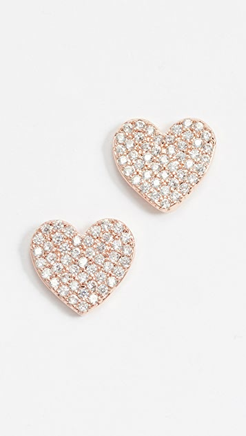 1541db4d2a9f4 Kate Spade New York Pave Heart Studs