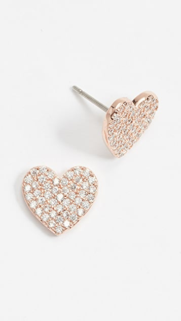 Kate Spade New York Pave Heart Studs
