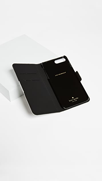 Kate Spade New York Owl Appliqué Folio iPhone 7 Plus / 8 Plus Case