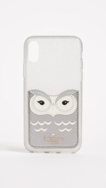 Kate Spade New York Owl Sticker iPhone Pocket