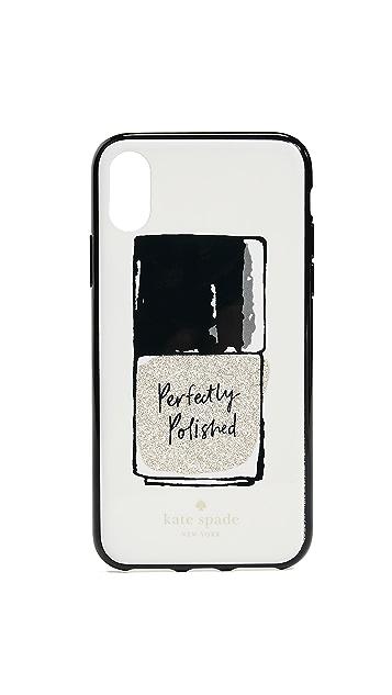 Kate Spade New York Glitter Nail Polish iPhone X Case