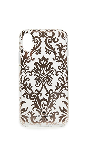 Kate Spade New York Rose Gold Tapestry iPhone X Case