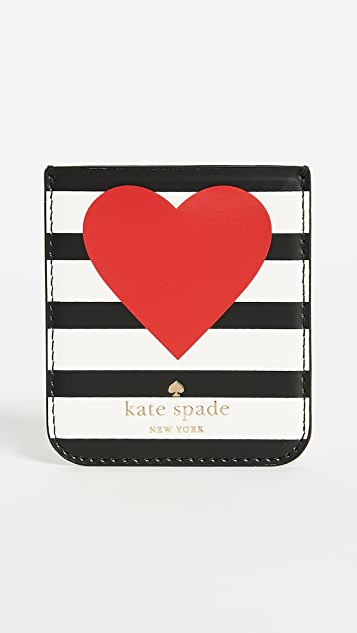 Kate Spade New York Heart Stripe Sticker Pocket