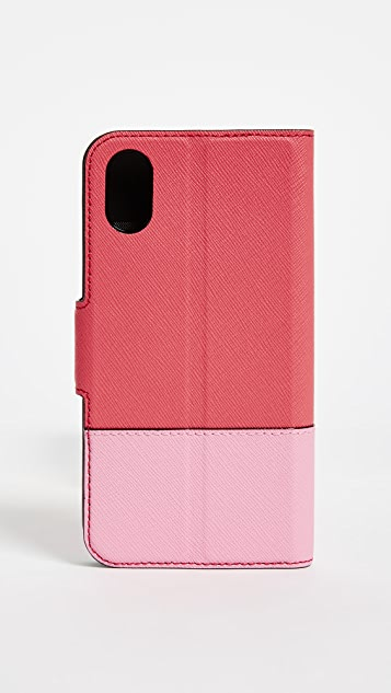 Kate Spade New York Leather Folio iPhone X Case