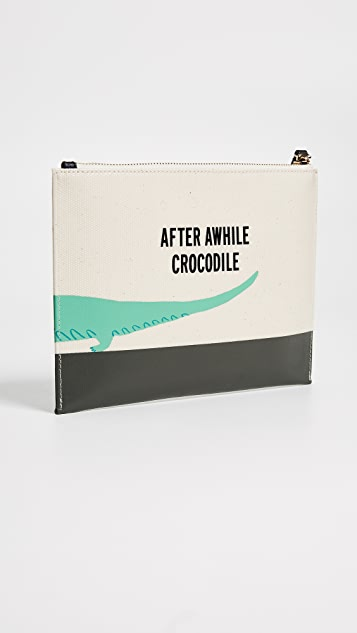 Kate Spade New York Swamped Gator Medium Bella Pouch