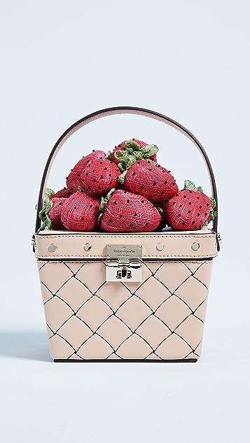 Kate Spade New York Picnic Perfect Strawberry Basket