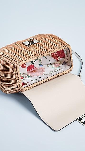 Kate Spade New York Соломенная сумка-портфель Justina