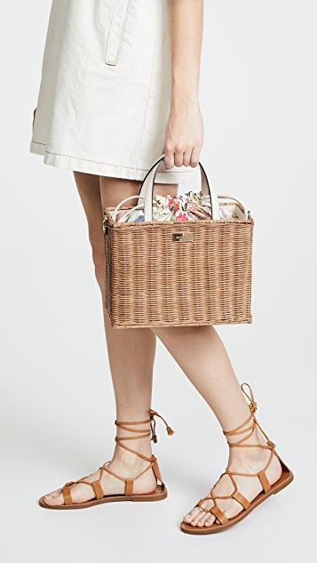 Kate Spade New York Straw Sam Tote Bag