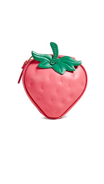 Kate Spade New York Picnic Perfect 3D Strawberry Coin Purse