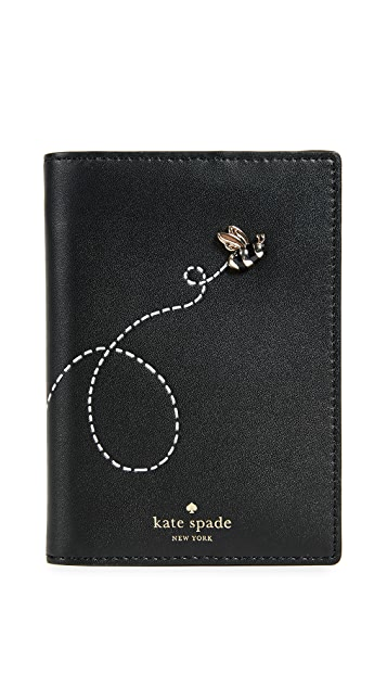 Kate Spade New York Picnic Perfect Bee Passport Holder