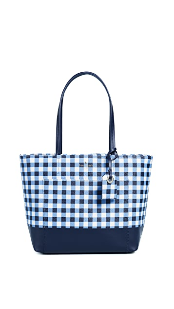 Kate Spade New York Hyde Lane Gingham Riley Tote