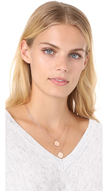 kate spade new york h initial pendant necklace