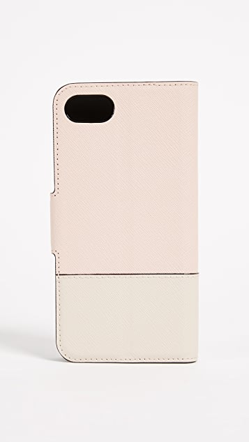 Kate Spade New York Leather Wrap Folio iPhone 7 / 8 Case
