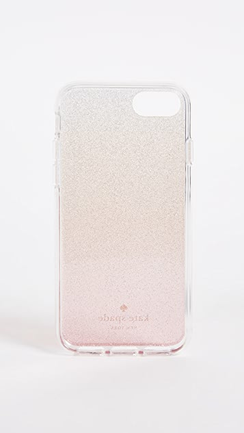 Kate Spade New York Pink Glitter Ombre iPhone 7 / 8 Case