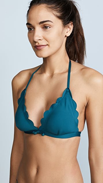 Kate Spade New York Scalloped Triangle Bikini Top