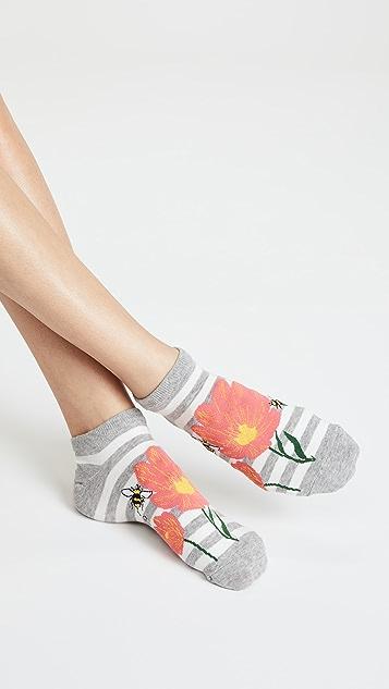 Kate Spade New York 3 Pack of Floral Bee Socks