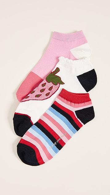 Kate Spade New York 3 Pack of Strawberry Socks