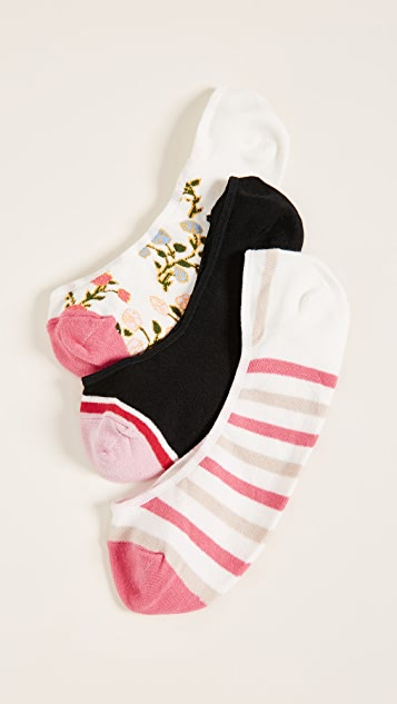 Kate Spade New York Mini Bloom Liner Sock 3 Pack