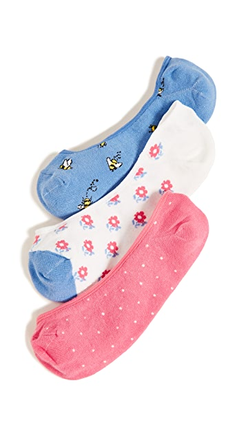 Kate Spade New York A Buzz Liner Sock 3 Pack