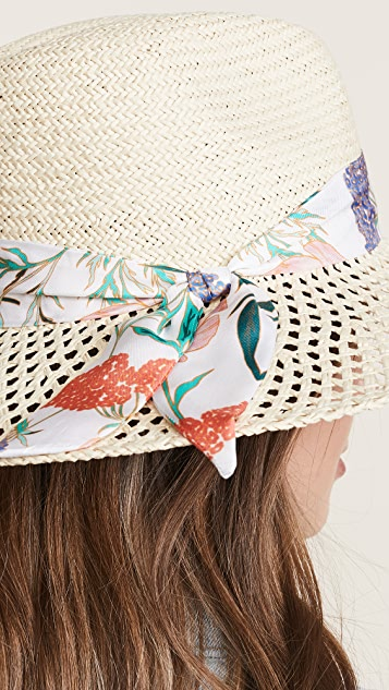 Kate Spade New York Caning Long Brim Fedora Hat