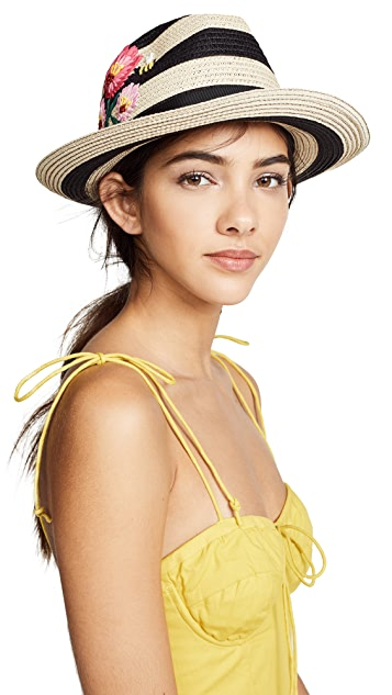 Kate Spade New York Blossom Embroidered Trilby Hat